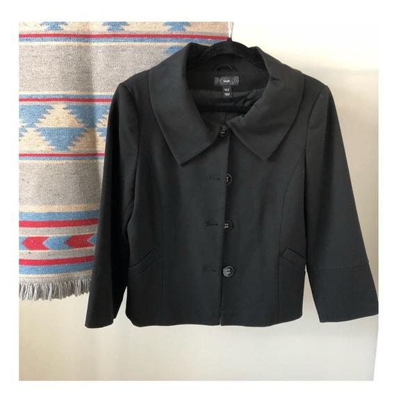 H&M Jackets & Blazers - EUC | H&M Cropped Black Suit Top